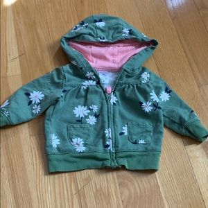 Carters 3 m hoodie with zip up